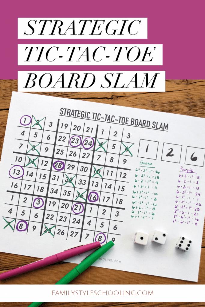 Strategic Tic-tac-toe board slam
